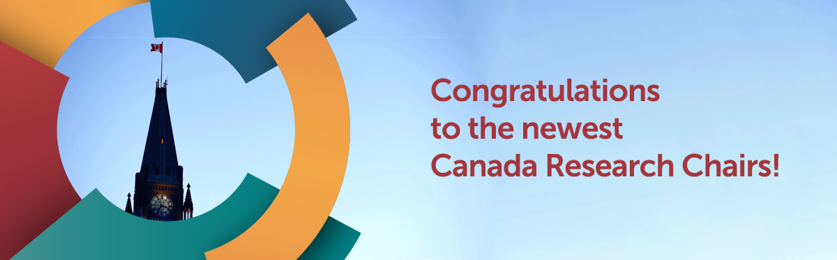 Congratulations to our new Canada Research Cjair