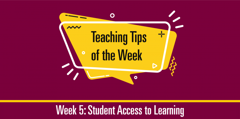 Teaching Tips of the Week